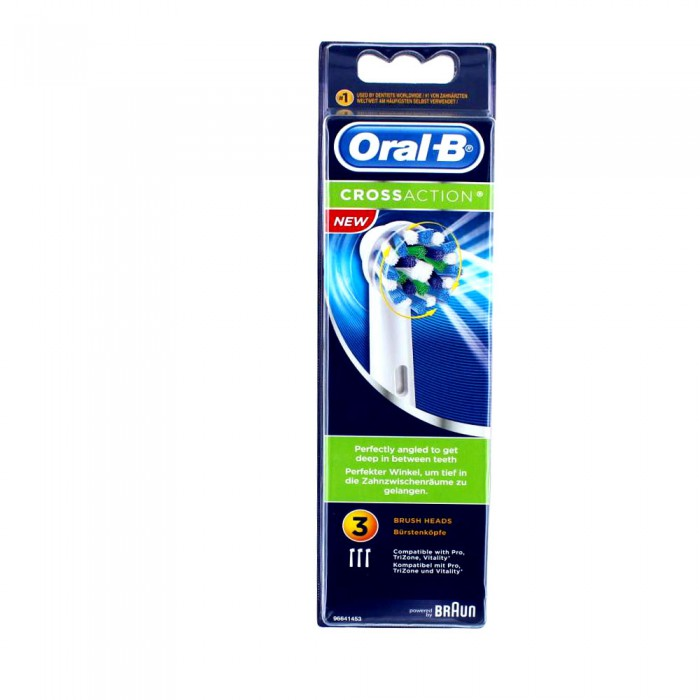 oral b cross action pour brosse a dents electrique x3. Black Bedroom Furniture Sets. Home Design Ideas