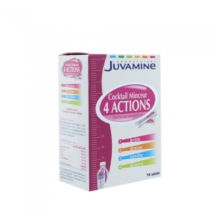 JUVAMINE COCKTAIL MINCEUR 4 ACTIONS 14 STICKS