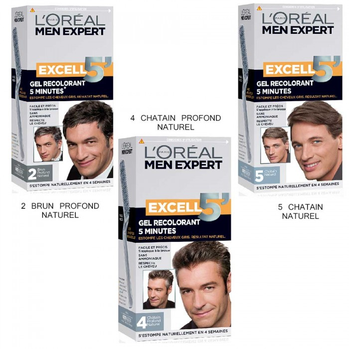 loreal excell5 gel colorant cheveux pour homme - Shampoing Colorant Homme