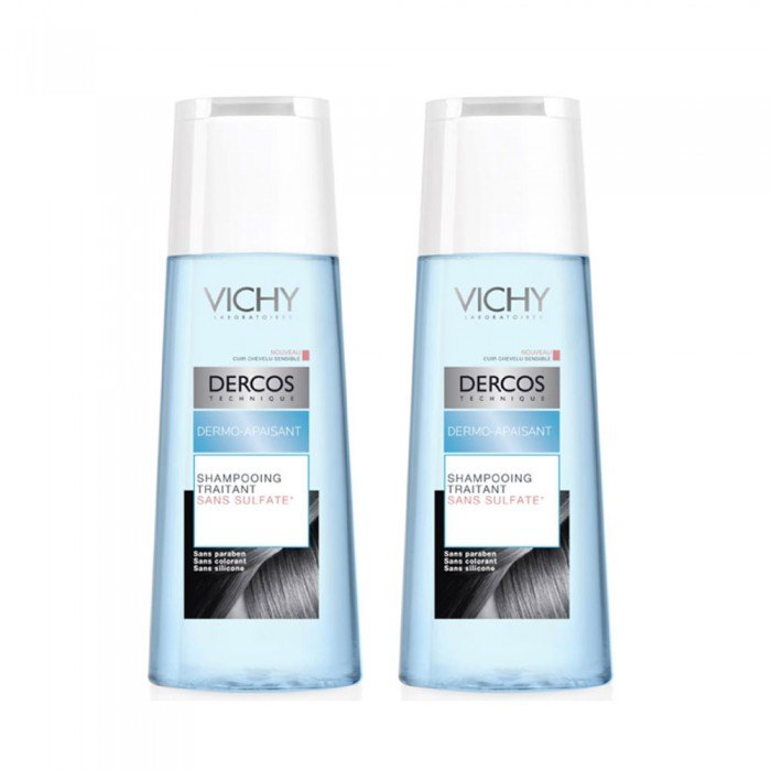 vichy dercos dermo apaisant shampoing traitant 2x200ml easyparapharmacie. Black Bedroom Furniture Sets. Home Design Ideas