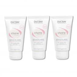 DUCRAY ICTYANE CREME MAINS REPARATRICE PROTECTRICE 3 x 50ML
