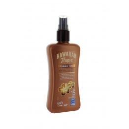 HAWAIIAN TROPIC GOLDEN TINT SPRAY SOLAIRE EFFET HALE NATUREL SPF15 200ML