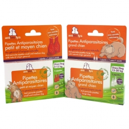 ANIBIOLYS PIPETTES ANTI-PARASITAIRES CHIEN
