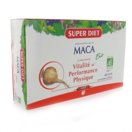 SUPERDIET SOLUTION BUVABLE BIO A BASE DE MACA VITALITE ET PERFORMANCE PHYSIQUE 20 AMPOULES DE 15 ML