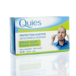 QUIES PROTECTION AUDITIVE SILICONE SOUPLE AVEC CORDELETTE