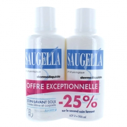 SAUGELLA DERMOLIQUIDE LOT DE 2X500 ML