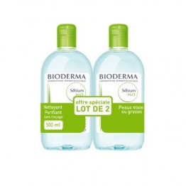 BIODERMA SEBIUM H2O SOLUTION MICELLAIRE 2x500 ML
