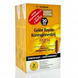 ARKOPHARMA ARKOROYAL GELEE ROYALE 1000MG 2X20 AMPOULES