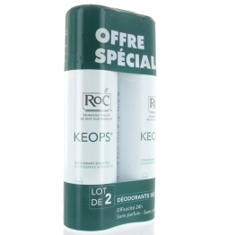 ROC KEOPS DEODORANT SPRAY SEC TRANSPIRATION ABONDANTE  2X150ML