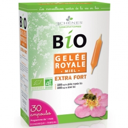 3 CHENES BIO GELEE ROYALE EXTRA FORT 30 AMPOULES