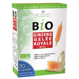 3 CHENES BIO GINSENG GELEE ROYALE 30 AMPOULES
