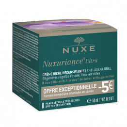 Offre Creme Riche Peaux Seches A Tres Seches 50ml Nuxuriance Ultra Nuxe