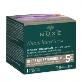 Offre Creme Nuit 50ml Nuxuriance Ultra Nuxe