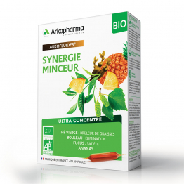 SYNERGIE MINCEUR BIO 20 AMPOULES ARKOFLUIDES ARKOPHARMA