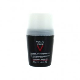 VICHY HOMME DEODORANT BILLE ANTI TRANSPIRANT CONTROLE EXTREME 72H PEAU SENSIBLE 50ML