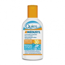 QUIES MEDUSYL LAIT DOUBLE PROTECTION SPF30 SUN 120ML