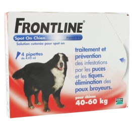FRONTLINE SPOT-ON CHIEN 40-60KG 4 PIPETTES DE 4.02ML