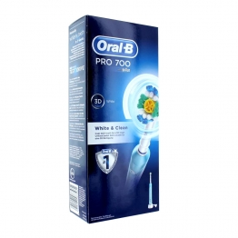 ORAL B BROSSE A DENT PRO 700 WHITE AND CLEAN