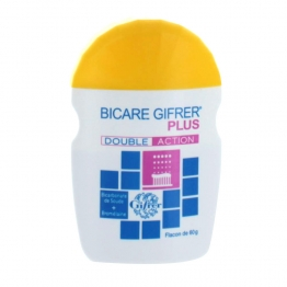 GIFRER BICARBONATE DE SOUDE BICARE PLUS DOUBLE ACTION FLACON 60G