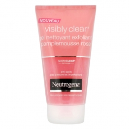NEUTROGENA VISIBLY CLEAR GEL NETTOYANT EXFOLIANT PAMPLEMOUSSE ROSE 150ML
