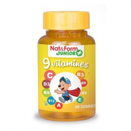 9 VITAMINES JUNIOR NAT & FORM 60 GOMMES