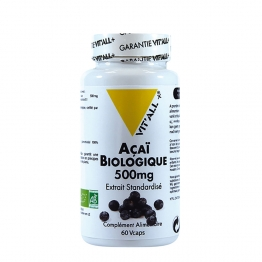 VIT'ALL+ ACAI 500 MG 60 GELULES