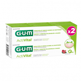 Activital Q10 Dentifrice Gencives Et Dents Saines 2x75ml Gum
