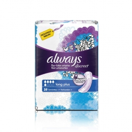 ALWAYS DISCREET PLUS LONG 16 SERVIETTES