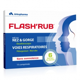 ARKOPHARMA FLASH'RUB NEZ ENCOMBRE ET GORGE IRRITEE 15 COMPRIMES