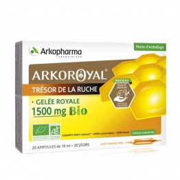 ARKOROYAL GELEE ROYALE BIO 1500MG 20 AMPOULES