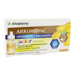 ARKOROYAL DEFENSES DE L'ORGANISME JUNIOR UNIDOSES 5X10ML