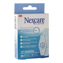 ASSORTIMENT PANSEMENTS X20 NEXCARE STRONG 3M