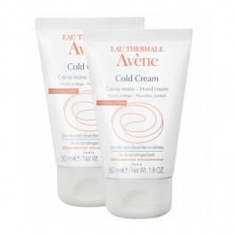 AVENE COLD CREAM CREME MAINS PEAUX DESSECHEES OU ABIMEES 2X50ML