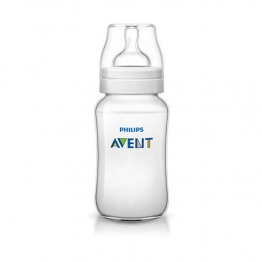 AVENT BIBERON CLASSIC TETINE SILICONE DEBIT VARIABLE 3 MOIS ET PLUS 330ML
