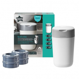 Bac à Couches Twist and Click + 4 Recharges Starter Pack Tommee Tippee