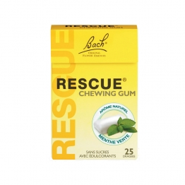 BACH RESCUE CHEWING GUM 25 DRAGEES