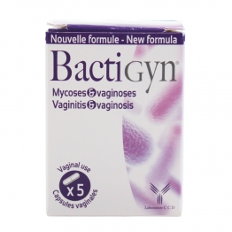 BACTIGYN MYCOSE ET VAGINOSES 5 CAPSULES VAGINALES