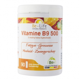 BE LIFE VITAMINE B9 500 90 GELULES