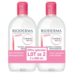 BIODERMA CREALINE T.S. H2O SOLUTION MICELLAIRE 2X500ML