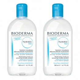 BIODERMA HYDRABIO H2O SOLUTION MICELLAIRE DEMAQUILLANTE HYDRANTE PEAUX SENSIBLES 2X500ML
