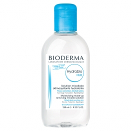 BIODERMA HYDRABIO H2O SOLUTION MICELLAIRE DEMAQUILLANTE HYDRATANTE PEAUX SENSIBLES 250ML