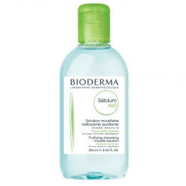 BIODERMA SEBIUM H20 SOLUTION MICELLAIRE PEAUX MIXTES A GRASSES 250ML