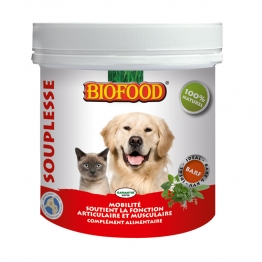 BIOFOOD SOUPLESSE MOBILITE ARTICULATION ET MUSCULATURE CHIEN ET CHAT 125G