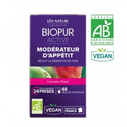 BIOPUR ACTIVE MODERATEUR D'APPETIT BIO 48 GELULES