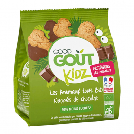 BISCUITS ANIMAUX CHOCOLAT BIO 120G KIDZ DES 3 ANS GOOD GOUT