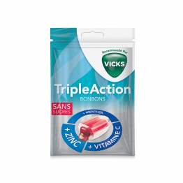 BONBONS TRIPLE ACTION SANS SUCRES X48 VICKS