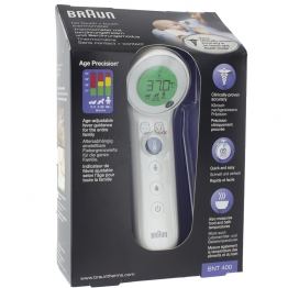 BRAUN THERMOMETRE BNT400WE SANS CONTACT ET FRONTAL AVEC AGE PRECISION