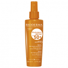 Bronz Spray Haute Protection Spf50+ 200ml Photoderm peaux sensibles Bioderma