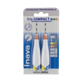 BROSSETTES INTERDENTAIRES 0.8MM - 1MM- 1.2MM TRIO COMPACT INAVA