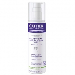 CATTIER GEL NETTOYANT REEQUILIBRANT PEAUX MIXTES A GRASSES BIO 200ML